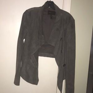 Jackets & Blazers - Bcbg grey suede jacket